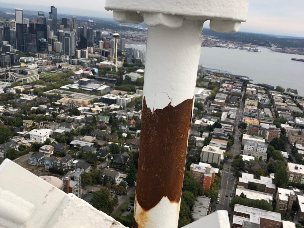 Rust Bleed Through on Tower Paint